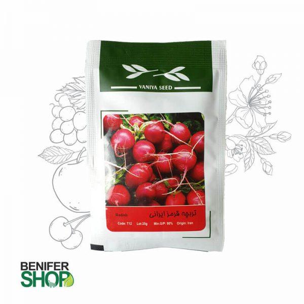 بذر خانگی تربچه قرمز ایرانی آذر سبزینه